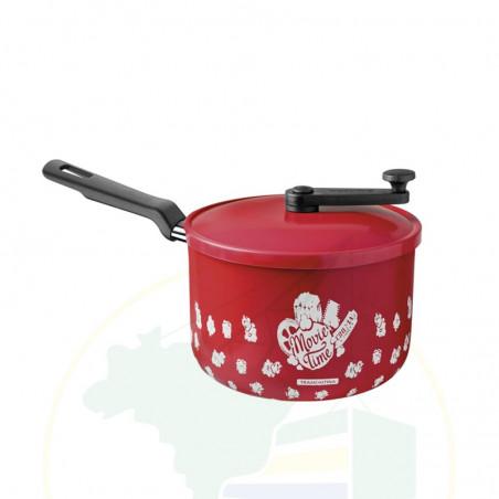 Popcorn-Maker aus Aluminium - Pipoqueira Tramontina  Antiaderente Vermelha 20 cm 3,5 L