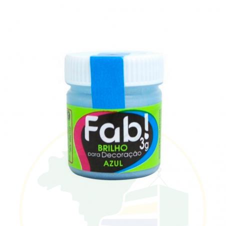 Glitzer - Brilho para decoração Azul - FAB! - 3g