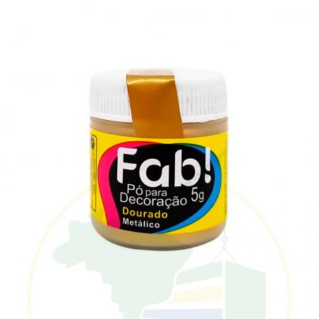 Glitzer - Pó para decoração Dourado Metálico - FAB! - 3g