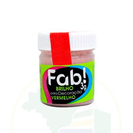 Glitzer - Brilho para decoração Vermelho - FAB! - 3g