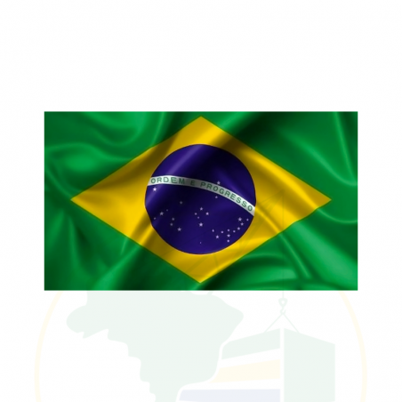 Bandeira do Brasil - 100% Poliester - 95 X 135 cm