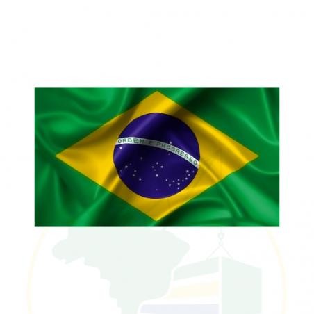Brasilianische Flagge - Bandeira do Brasil - 100% Poliester - 95 X 135 cm