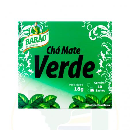 Grüner Mate Tee - Chá de Mate Verde Barão - 18g