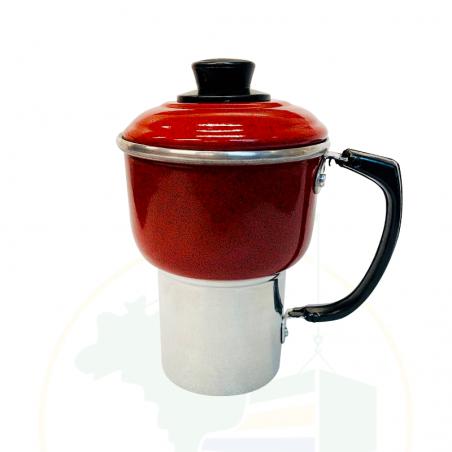 Mini Couscous-Topf - Mini Cuscuzeira Vermelha - 300ml