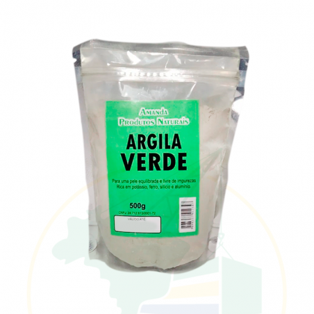 Grüne Tonerde - Argila Verde - Amanda Produtos Naturais - 500g