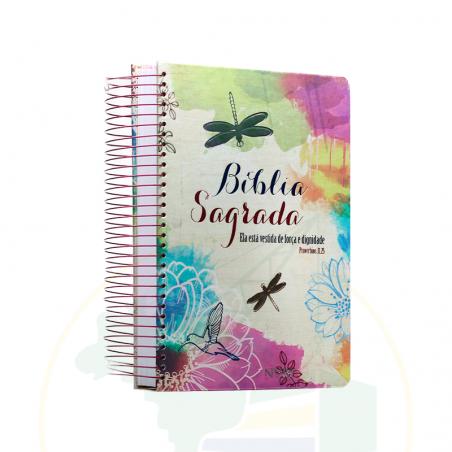 Bíblia Sagrada - Anote - Ela Está Vestida de Força e Dignidade