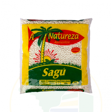 Manioksago, grobkörnig - Sagu - A Natureza - 250g