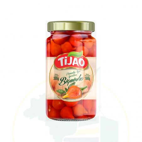 Chili Biquinho, eingelegt - Pimenta tipo Aperitivo Biquinho TIJÃO - 160g
