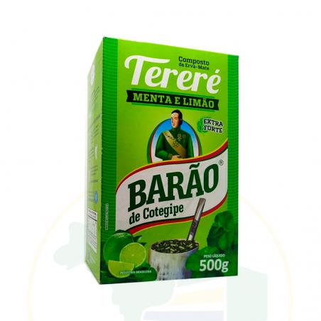 Mate Tee, Minze und Limone - Erva Mate Tereré MENTA E LIMÃO -  BARÃO - 500g