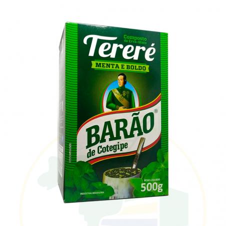 Mate Tee, Minze und Boldo - Erva Mate Tereré MENTA COM BOLDO -  BARÃO - 500g
