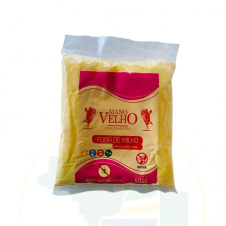 Maismehl, fein, GVO-frei - Fubá de Milho Natural - não transgênico - Vegano - MANO VELHO 500g