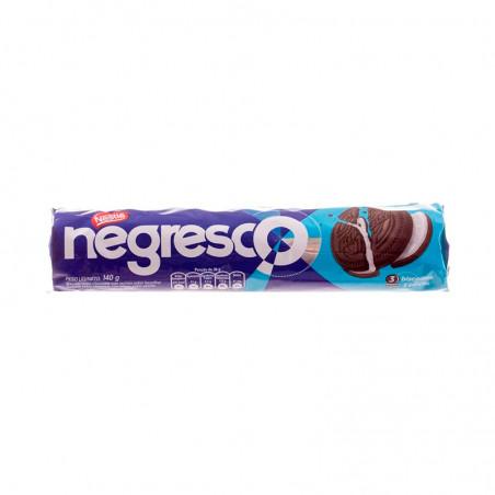 Schokoladen Doppelkekse mit Vanillefüllung - Biscoito Recheado Nestlé Negresco 140g