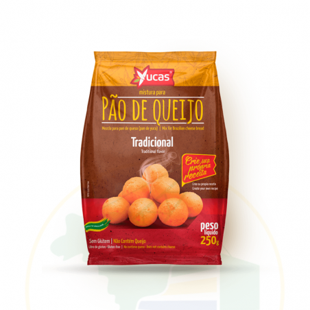 Mischung mit Zutaten für Käsebrötchen - Mistura para Pão de Queijo -  YUCAS  - 250g - validade: 28.08.21