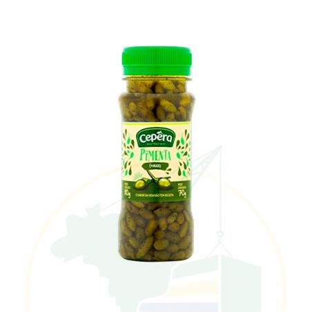 Grüne Comari Chilischoten, eingelegt - Pimenta Comari CEPÊRA 110g