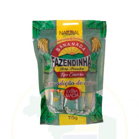 Bananada Fazendinha sem Açucar - 115g (5 unidades x 23g)