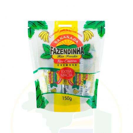 Bananada cremosa Fazendinha - 150g (5 unidades x 30g)
