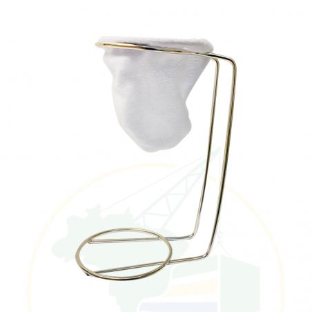 Kaffeefilter mit Metallständer -  Coador de Café individual com suporte de metal - 7cm
