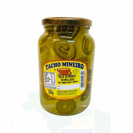 Doce de Mamão enrolado TACHO MINEIRO - 300gr
