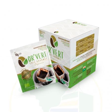 Café orgânico em Sachê - OR`VERT - 10 sachês -100g