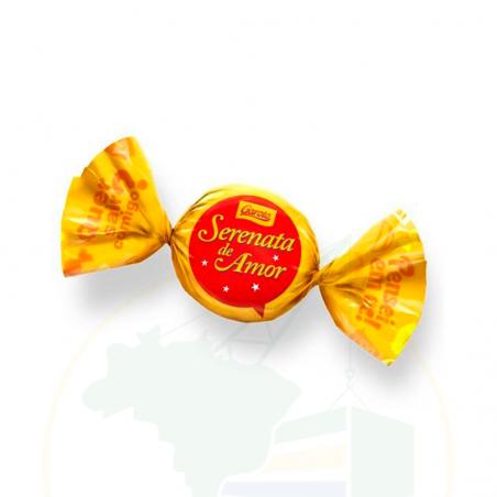 Schokoladen Bonbons mit Cashewnusscreme-Füllung - Bombom Serenata do Amor - Unidade 20g