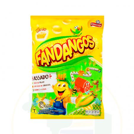 Mais Snacks mit Käsegeschmack - Salgadinho Fandangos - Queijo - Elma Chips  50g