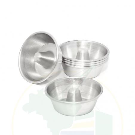 Pudding Form, klein, 6 Stk. - Kit Forminha Mini Pudim - 6 unidades - 350ml
