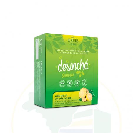 Kräuter Tee, Ananas- Zitronengeschmack, DESINCHÁ sabor Abacaxi com Limão Siciliano - 30 sachês